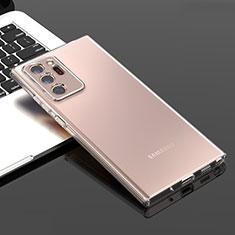 Custodia Silicone Trasparente Ultra Sottile Morbida T04 per Samsung Galaxy Note 20 Ultra 5G Chiaro