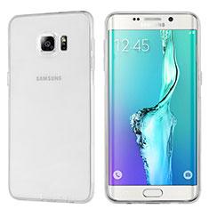 Custodia Silicone Trasparente Ultra Sottile Morbida T04 per Samsung Galaxy S6 Edge+ Plus SM-G928F Chiaro