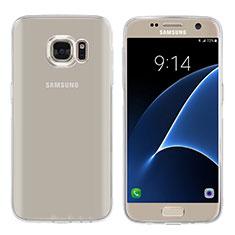 Custodia Silicone Trasparente Ultra Sottile Morbida T04 per Samsung Galaxy S7 G930F G930FD Chiaro