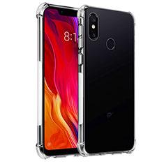 Custodia Silicone Trasparente Ultra Sottile Morbida T04 per Xiaomi Mi 8 Chiaro