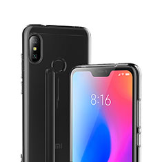 Custodia Silicone Trasparente Ultra Sottile Morbida T04 per Xiaomi Mi A2 Lite Chiaro
