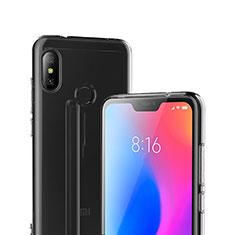 Custodia Silicone Trasparente Ultra Sottile Morbida T04 per Xiaomi Redmi 6 Pro Chiaro