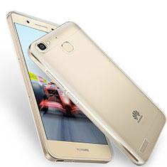 Custodia Silicone Trasparente Ultra Sottile Morbida T05 per Huawei P8 Lite Smart Grigio