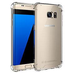 Custodia Silicone Trasparente Ultra Sottile Morbida T05 per Samsung Galaxy S7 Edge G935F Chiaro