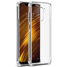 Custodia Silicone Trasparente Ultra Sottile Morbida T05 per Xiaomi Pocophone F1 Chiaro