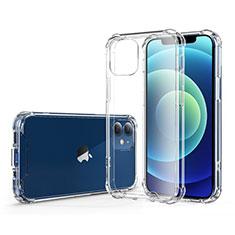 Custodia Silicone Trasparente Ultra Sottile Morbida T06 per Apple iPhone 12 Mini Chiaro