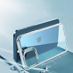 Custodia Silicone Trasparente Ultra Sottile Morbida T06 per Apple iPhone 12 Pro Max Chiaro
