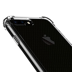 Custodia Silicone Trasparente Ultra Sottile Morbida T06 per Apple iPhone 8 Plus Chiaro