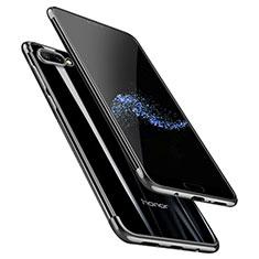 Custodia Silicone Trasparente Ultra Sottile Morbida T06 per Huawei Honor 10 Nero