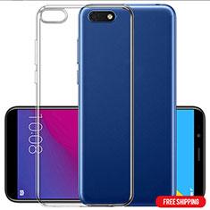 Custodia Silicone Trasparente Ultra Sottile Morbida T06 per Huawei Honor 7S Chiaro