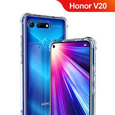 Custodia Silicone Trasparente Ultra Sottile Morbida T06 per Huawei Honor View 20 Chiaro
