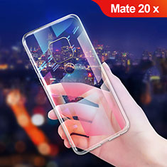 Custodia Silicone Trasparente Ultra Sottile Morbida T06 per Huawei Mate 20 X Chiaro
