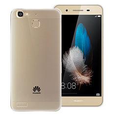 Custodia Silicone Trasparente Ultra Sottile Morbida T06 per Huawei P8 Lite Smart Grigio