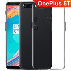 Custodia Silicone Trasparente Ultra Sottile Morbida T06 per OnePlus 5T A5010 Chiaro