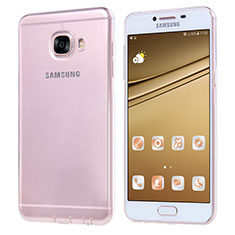 Custodia Silicone Trasparente Ultra Sottile Morbida T06 per Samsung Galaxy C7 SM-C7000 Chiaro