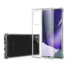 Custodia Silicone Trasparente Ultra Sottile Morbida T06 per Samsung Galaxy Note 20 Ultra 5G Chiaro