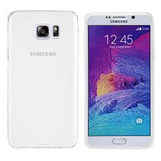 Custodia Silicone Trasparente Ultra Sottile Morbida T06 per Samsung Galaxy Note 5 N9200 N920 N920F Bianco