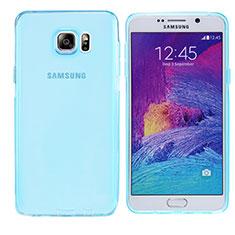 Custodia Silicone Trasparente Ultra Sottile Morbida T06 per Samsung Galaxy Note 5 N9200 N920 N920F Blu