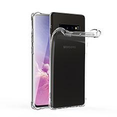 Custodia Silicone Trasparente Ultra Sottile Morbida T06 per Samsung Galaxy S10 Chiaro
