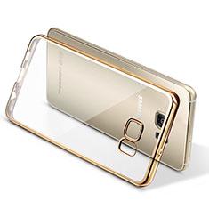 Custodia Silicone Trasparente Ultra Sottile Morbida T06 per Samsung Galaxy S7 Edge G935F Oro