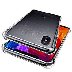 Custodia Silicone Trasparente Ultra Sottile Morbida T06 per Xiaomi Mi 8 Pro Global Version Chiaro