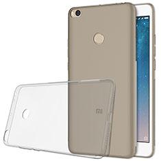 Custodia Silicone Trasparente Ultra Sottile Morbida T06 per Xiaomi Mi Max 2 Grigio