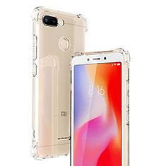 Custodia Silicone Trasparente Ultra Sottile Morbida T06 per Xiaomi Redmi 6 Chiaro