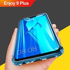 Custodia Silicone Trasparente Ultra Sottile Morbida T07 per Huawei Enjoy 9 Plus Cielo Blu