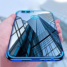 Custodia Silicone Trasparente Ultra Sottile Morbida T07 per Huawei Nova 2 Plus Blu