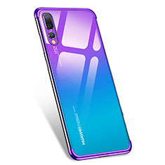 Custodia Silicone Trasparente Ultra Sottile Morbida T07 per Huawei P20 Pro Viola