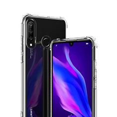 Custodia Silicone Trasparente Ultra Sottile Morbida T07 per Huawei P30 Lite Chiaro