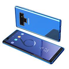 Custodia Silicone Trasparente Ultra Sottile Morbida T07 per Samsung Galaxy Note 9 Blu