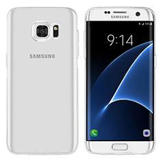 Custodia Silicone Trasparente Ultra Sottile Morbida T07 per Samsung Galaxy S7 Edge G935F Chiaro