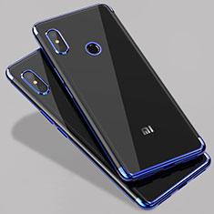 Custodia Silicone Trasparente Ultra Sottile Morbida T07 per Xiaomi Mi 6X Blu