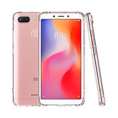 Custodia Silicone Trasparente Ultra Sottile Morbida T07 per Xiaomi Redmi 6 Chiaro