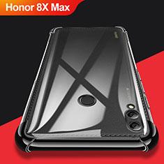 Custodia Silicone Trasparente Ultra Sottile Morbida T08 per Huawei Honor 8X Max Nero