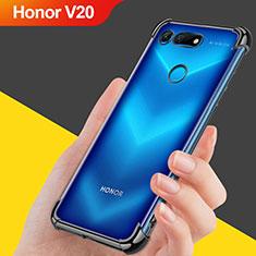 Custodia Silicone Trasparente Ultra Sottile Morbida T08 per Huawei Honor View 20 Nero