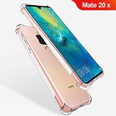 Custodia Silicone Trasparente Ultra Sottile Morbida T08 per Huawei Mate 20 X 5G Chiaro