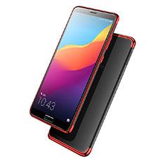 Custodia Silicone Trasparente Ultra Sottile Morbida T08 per Huawei Nova 2S Rosso