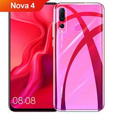 Custodia Silicone Trasparente Ultra Sottile Morbida T08 per Huawei Nova 4 Chiaro
