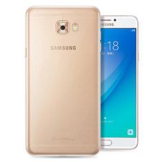 Custodia Silicone Trasparente Ultra Sottile Morbida T08 per Samsung Galaxy C7 Pro C7010 Chiaro