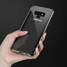 Custodia Silicone Trasparente Ultra Sottile Morbida T08 per Samsung Galaxy Note 9 Nero