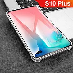 Custodia Silicone Trasparente Ultra Sottile Morbida T08 per Samsung Galaxy S10 Plus Chiaro