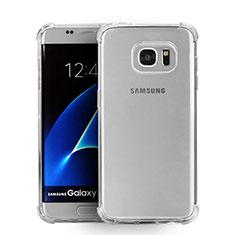 Custodia Silicone Trasparente Ultra Sottile Morbida T08 per Samsung Galaxy S7 Edge G935F Chiaro