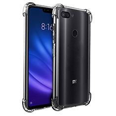 Custodia Silicone Trasparente Ultra Sottile Morbida T08 per Xiaomi Mi 8 Lite Chiaro