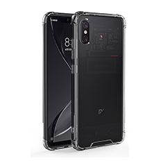 Custodia Silicone Trasparente Ultra Sottile Morbida T08 per Xiaomi Mi 8 Pro Global Version Chiaro
