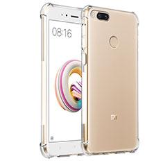 Custodia Silicone Trasparente Ultra Sottile Morbida T08 per Xiaomi Mi A1 Chiaro