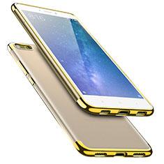 Custodia Silicone Trasparente Ultra Sottile Morbida T08 per Xiaomi Mi Max 2 Oro