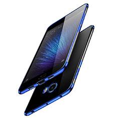 Custodia Silicone Trasparente Ultra Sottile Morbida T08 per Xiaomi Mi Note 2 Blu