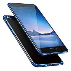 Custodia Silicone Trasparente Ultra Sottile Morbida T08 per Xiaomi Mi Note 3 Blu